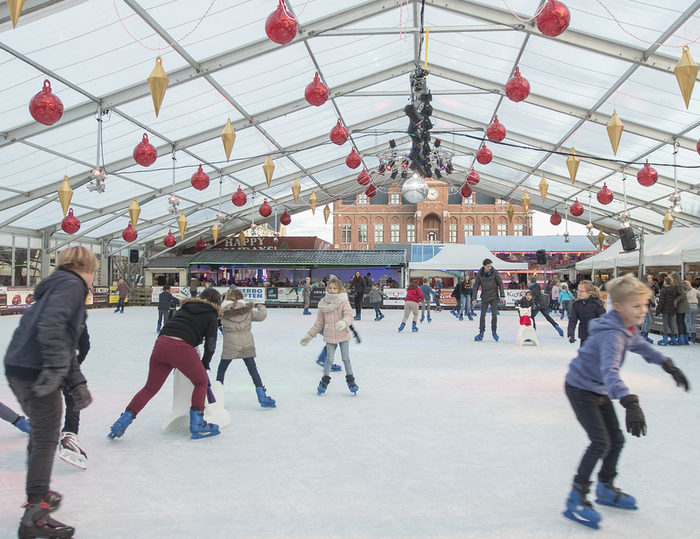 Ice skating in Knokke